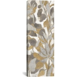 "iCanvas Painted Tropical Screen, Gray Gold I by Silvia Vassileva Gallery-Wrapped Canvas Print - 36"" x 12"" x 0.75"""