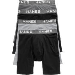 Hanes Men's 4-Pk. Platinum Comfort Flex Fit Long-Line Boxer Briefs found on Bargain Bro India from Macy's for $26.60