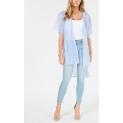 Ultra Flirt Juniors' Printed Tie-Front High-Low Kimono found on MODAPINS from Macy's for USD $19.99