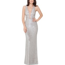 Xscape Sequinned V-Neck Gown found on MODAPINS from Macys CA for USD $292.73