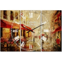 Designart Industrial 3 Panels Metal Wall Clock found on Bargain Bro Philippines from Macy's Australia for $265.06