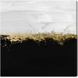 """Oliver Gal Halfway in Black and White Canvas Art, 36"""" x 36"""""""