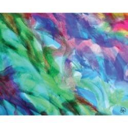 "Creative Gallery In Un Crescendo Vibrant Abstract 20"" x 16"" Canvas Wall Art Print"