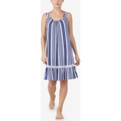 Ellen Tracy Printed Lace-Detail Chemise Nightgown found on Bargain Bro India from Macys CA for $25.68