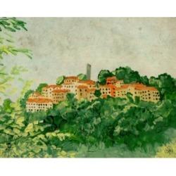 "Creative Gallery Sambuca di Sicily Village 36"" x 24"" Canvas Wall Art Print"