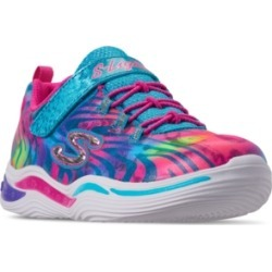 Skechers Little Girls' S Lights: Power Petals - Flowerspark Slip-On Training Sneakers from Finish Line found on Bargain Bro Philippines from Macy's for $3.75