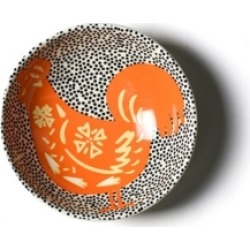 Coton Colors by Laura Johnson Chinese Zodiac Rooster Bowl