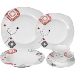 Lorren Home Trends Porcelain 20 Piece Square Dinnerware Set Service for 4 found on Bargain Bro Philippines from Macy's for $39.99