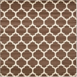 Bridgeport Home Arbor Arb1 Light Brown 8' x 8' Square Area Rug found on Bargain Bro India from Macy's for $250.00