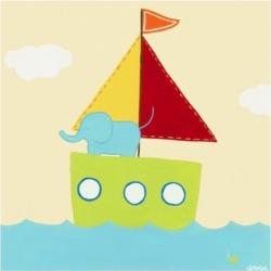 June Erica Vess Sailboat Adventure Iv Canvas Art - 15.5