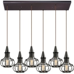 Yardley Collection 6 light pendant in Oil Rubbed Bronze