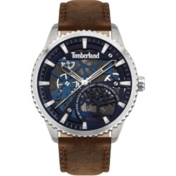 Timberland Mens 3 Hands Brown Genuine Leather Strap Watch 44mm found on Bargain Bro Philippines from Macy's for $149.00