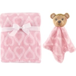 Hudson Baby Plush Blanket and Animal Security Blanket, 2-Piece Set, One Size