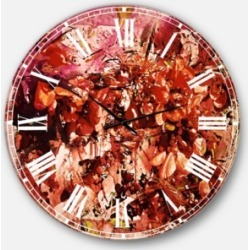 Designart Floral Oversized Round Metal Wall Clock on Wrapped Canvas found on Bargain Bro Philippines from Macy's Australia for $301.11