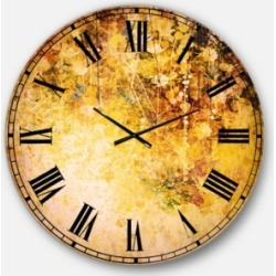 Designart Floral Oversized Round Metal Wall Clock found on Bargain Bro Philippines from Macy's Australia for $275.08
