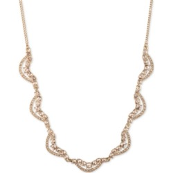 Givenchy Gold-Tone Crystal Twist Collar Necklace, 16