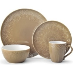 Closeout! Pfaltzgraff Dolce Tan 4 pc Place Setting, Service for 1
