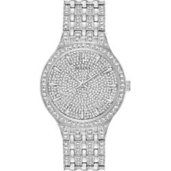 Bulova Men's Phantom Crystal-Accent Stainless Steel Bracelet Watch 40mm