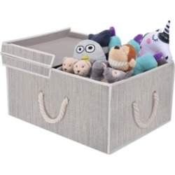 StorageWorks Foldable Fabric Storage Bin with Cotton Rope Handles and Double-Open Lid found on Bargain Bro India from Macy's for $37.99