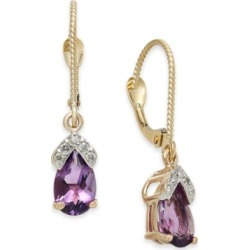 Amethyst (1-5/8 ct. t.w.) & Diamond Drop Earrings in 14k Rose Gold found on Bargain Bro Philippines from Macy's for $254.70