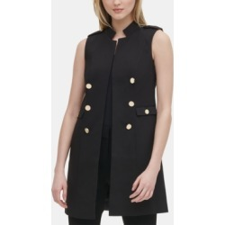 Calvin Klein Button-Detail Open-Front Vest found on MODAPINS from Macy's for USD $119.50