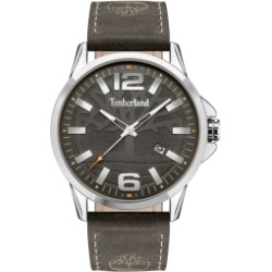 Timberland Mens 3 Hands Date Grey Genuine Leather Strap Watch 45mm found on Bargain Bro Philippines from Macy's for $89.00