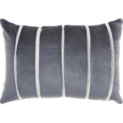 Inspire Me! Home Decor Pleated Stripes Midnight Throw Pillow