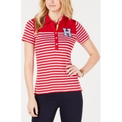 Tommy Hilfiger Striped Colorblocked Polo Shirt found on MODAPINS from Macy's for USD $14.76