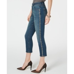 Inc Sparkle Side-Seam Skinny Cropped Jeans, Created for Macy's found on MODAPINS from Macy's for USD $99.50