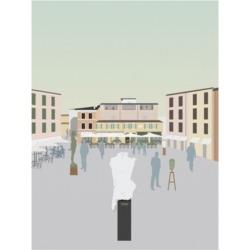 "Gurli Soerensen Travel Europe Pietrasanta Canvas Art - 36.5"" x 48"""
