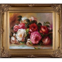 La Pastiche By Overstockart Discarded Roses with Renaissance Frame, 30