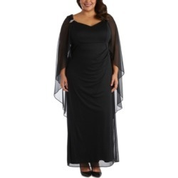 R & M Richards Plus Size Chiffon-Cape Gown found on Bargain Bro from Macy's Australia for USD $103.38