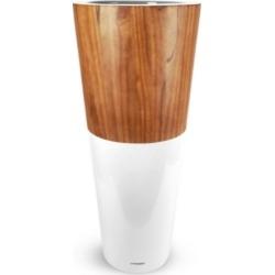 Le Present Lux Natura Fiberglass and Wood Pot 36