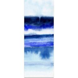Empire Art Direct 'Shorebreak Abstract B' Frameless Free Floating Tempered Glass Panel Graphic Wall Art - 63