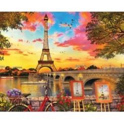Springbok Puzzles Paris Sunset 1000 Piece Jigsaw Puzzle