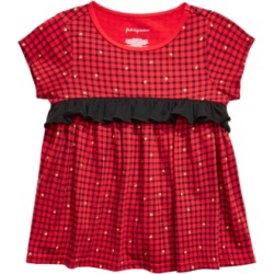 First Impressions Toddler Girls Check-Print Ruffled Cotton T-Shirt, Created For Macy's found on Bargain Bro Philippines from Macys CA for $6.26