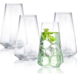 JoyJolt Infiniti Highball Glasses - Set of 4 found on Bargain Bro India from Macy's for $94.00