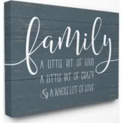 "Stupell Industries Family Loud Crazy Love Canvas Wall Art, 30"" x 40"""