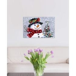 "iCanvas ""Snowman"" by William Vanderdasson Gallery-Wrapped Canvas Print (26 x 40 x 0.75)"