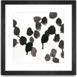 """Giant Art Monochrome Gestures Vii Matted and Framed Art Print, 36"""" x 36"""""""