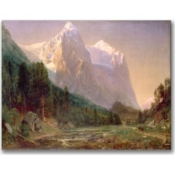 Thomas Worthington Whittredge 'Sunrise on the Wetterhorn 1858' Canvas Art - 24