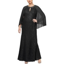 Sl Fashions Plus Size Lace Capelet Gown found on Bargain Bro from Macy's Australia for USD $127.42
