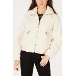 Collection B Juniors' Faux-Fur Teddy Bomber Jacket found on MODAPINS from Macy's for USD $34.96