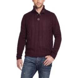 Weatherproof Vintage Men's Military Button Mock Turtleneck Sweater found on MODAPINS from Macy's for USD $26.93