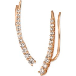 Le Vian Strawberry & Nude Diamond Climber Earrings (5/8 ct. t.w.) in 14k Rose Gold found on Bargain Bro India from Macy's for $640.00