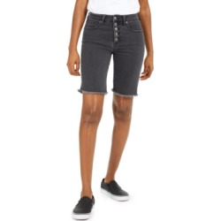 Oat Button-Fly Denim Bermuda Shorts found on MODAPINS from Macy's for USD $39.99