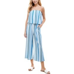 Be Bop Juniors' Striped Popover Jumpsuit found on Bargain Bro Philippines from Macy's for $29.99