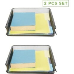 Mind Reader 2 Piece Front Load Storage Tray, Desktop File Organizer found on Bargain Bro India from Macy's for $22.99
