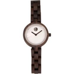 Earth Wood Wisteria Mother-Of-Pearl Wood Bracelet Watch Brown 32Mm