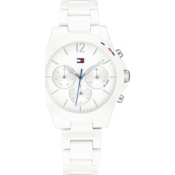 Tommy Hilfiger Women's Chronograph White Ceramic Bracelet Watch 38mm, Created for Macy's found on Bargain Bro Philippines from Macy's for $195.00